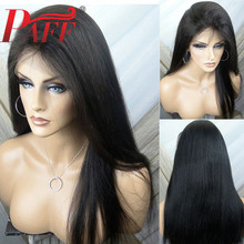 PAFF Pre Plucked Full Lace Human Hair Wigs Free Part  With Baby Hair Brazilian Remy Wig 180density Straight Full Lace Wig siv hair medium straight full lace 100 percent human hair wig