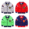 Los bebés Varones Suéter Cardigan Nueva Otoño Niños Bobo Choses Superman Estilo Suéter Suéteres Jumper Para Niños Niñas Bebé Ropa