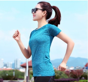 2018 Hot sell Sport Running T Shirt for Women Dry Quick Gym Yoga Shirt, Ladies Fitness Short Sleeve T-shirt Jogging Running Tops fitted quick dry gym long sleeve t shirt