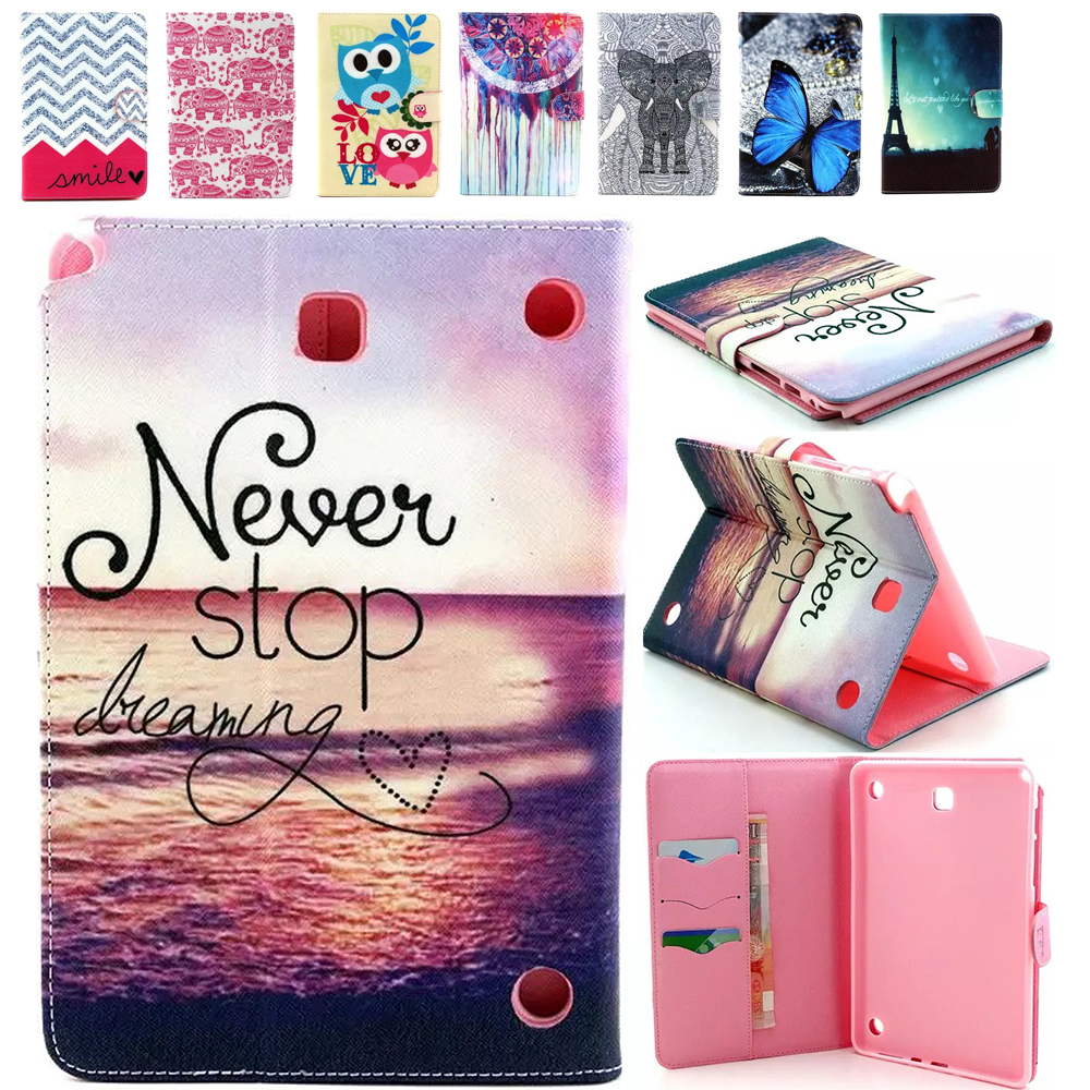 New Folio Printed for Samsung T350 Case Flip PU Leather Bracket Standing For Samsung Galaxy Tab A 8.0 SM-T350 T351 Tablet Case