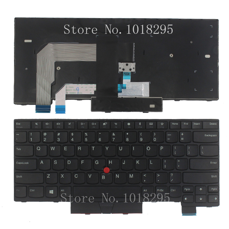 New US for Lenovo IBM ThinkPad T470 US laptop keyboard back No Backlit new us laptop keyboard with backlit for lenovo yoga 14 thinkpad s3 series p n 00wh763 47m004d sn20f98414 cb 84us mp 14a83usj442