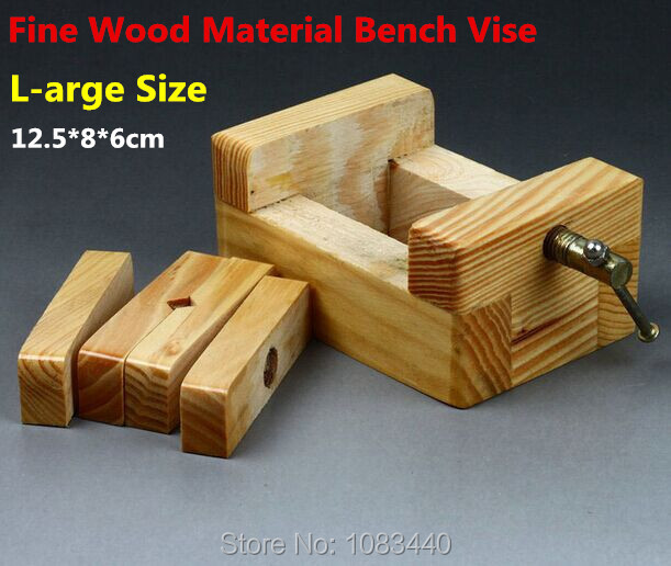 L-size Normal wood Fine Quality Metal Rod Wood working Tools mini Table Bench Vise for wood working Stone Wood  Clamp-on Tools