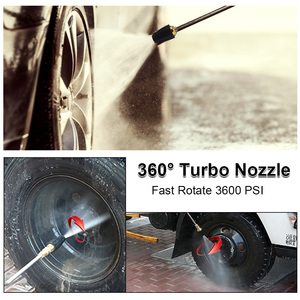 """Image 5 - 1/4"""" Rotating Spray Turbo Nozzle High Pressure Power Washer 360 Degree Turbo Nozzle Tips 3600 PSI Car Cleaning"""