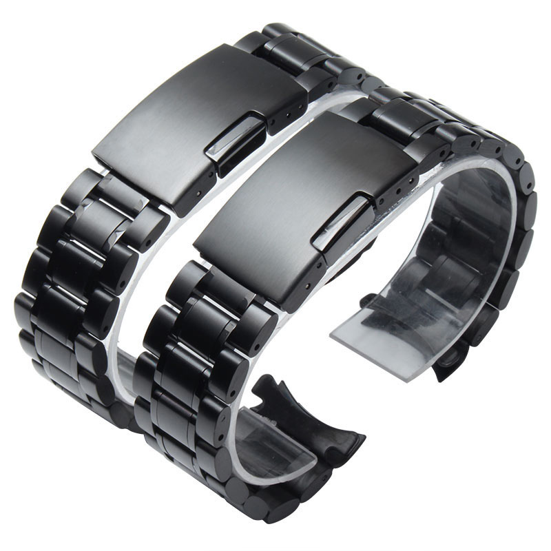 New Watch Band Womens Men 14mm 16mm 18mm 20mm 22mm 24mm Buckle Black Stainless Steel Watch Band Strap Straight End Bracelet new watch band 14mm 16mm 18mm 20mm 22mm 24mm 26mm black stainless steel watch band strap straight end bracelet