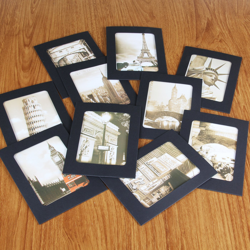 Set of 10 FREE shipping 4x6 Magically Magnetic Black or White Photo frames