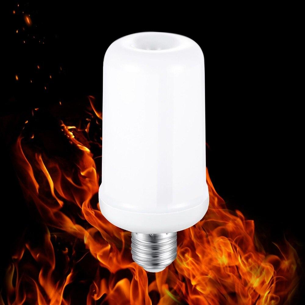 4X NEW E27/ E14 Led Flame Lamp AC85 265V LED Flame Effect ...