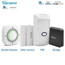 Sonoff RF Bridge 433MHZ Wifi Wireless Smoke Detector Fire PIR Sensor Door & Window Alarm Sensor for Smart Home Security Alexa