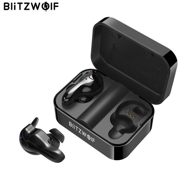 Blitzwolf BW-FYE1 bluetooth V5.0 TWS настоящие Беспроводные спортивные наушники TWS Наушники Hi-Fi стерео двойной микрофон с зарядным устройством