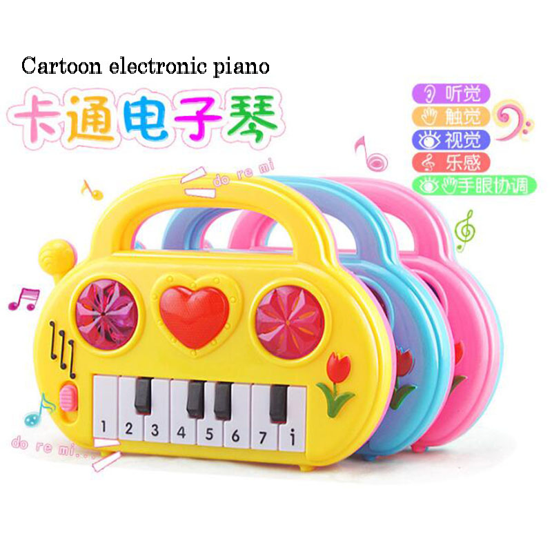 Kids Early Childhood Education Cartoon Electronic Piano Toy Fashion Birthday Gift Creative Baby Music Teaching Tool Supplies
