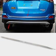 Автомобильный дизайн ABS заднего бампера протектор хвост задней ствол охранник порог плиты Scuff Накладка для Toyota RAV4 2016