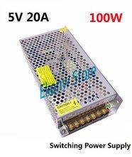 100 W 5 V 20A Comutação da fonte de Alimentação Tomada de Fábrica AC110-220V para DC5V SMPS Motorista Transformador para Fita Led visor do módulo