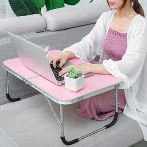 Image 4 - Faltbare Computer Tisch Tragbare Laptop Schreibtisch Drehen Laptop Bett Tisch kann Angehoben Stehenden Schreibtisch Tragbare Home Möbel