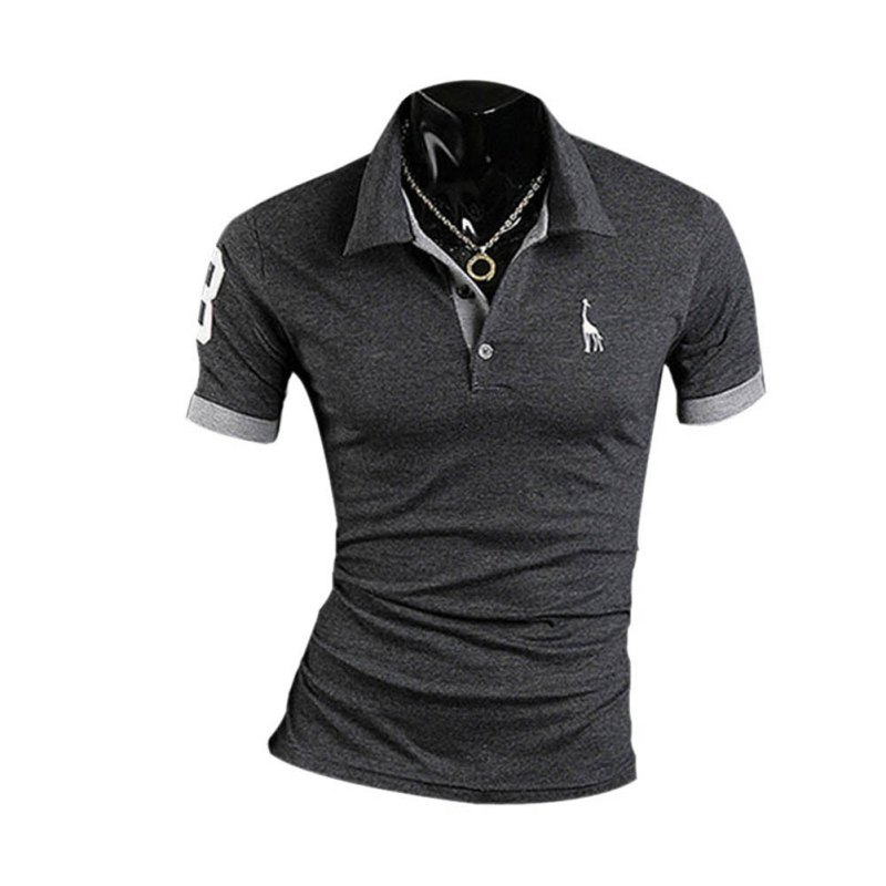 c8ed644fa ... Men's Stylish Short Sleeve Polo Shirt (10 Colors) ...