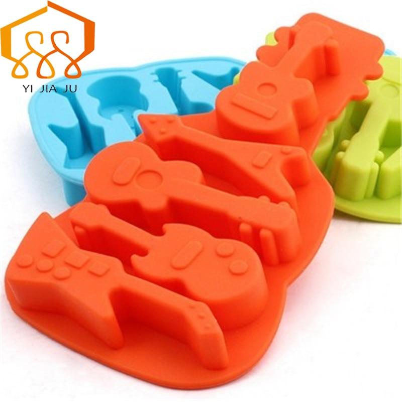 Alati za pečenje 3D Kuhinjske posude za kuhanje Silikonski kalup Gitara Ice Cube DIY Cake Tool