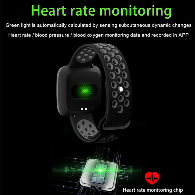 Image 2 - ONEVAN 1.3 inch Smart Watch Heart Rate Blood Pressure Blood Oxygen Monitor Fitness Bracelet Waterproof Wristband for Ios Android-in Smart Wristbands from Consumer Electronics