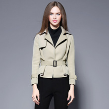 Trench Coat Hot Sale Full Burderry Women The European Station 2016 Winter New Women's Fashion Collar Suit And Slim Blouse Coat