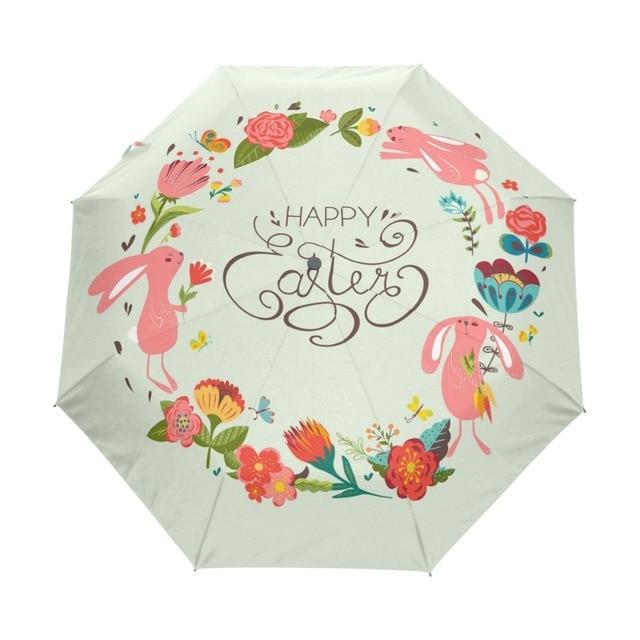 6c91f6e97e91 US $24.93 42% OFF Easter Folding Umbrella Rain Women Automatic Quality  Waterproof Windproof Anti UV Paraguas Girls Guarda Chuva Female-in  Umbrellas ...