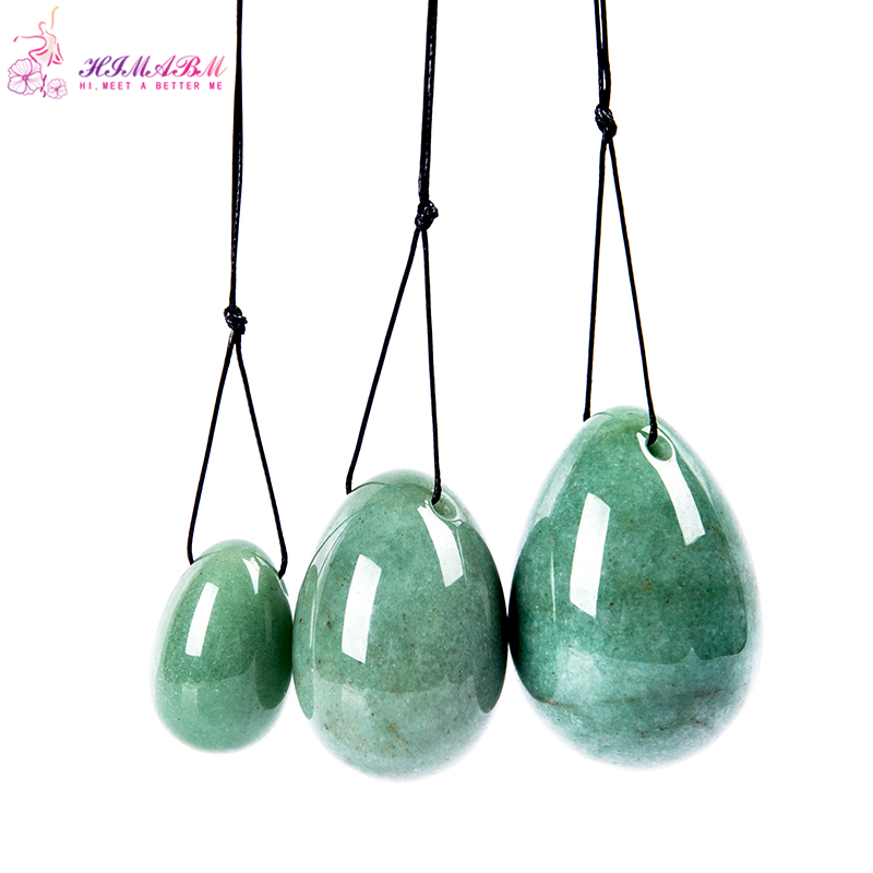 HIMABM jade egg set green aventurine for kegel exercise pelvic floor muscles vaginal tightening exercise yoni egg ben wa ball himabm natural jade egg pelvic floor muscles vaginal exercise yoni egg ben wa ball for kegel exercise massage ball free shipping