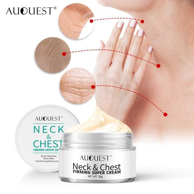 Crema de arrugas para el pecho con cuello AuQuest crema reafirmante para la piel crepé seca crema hidratante y levantadora para el cuidado de la piel sin edad 2