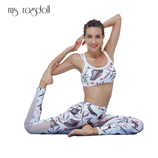 Floral Print Gym Sportswear Outfits Sport Suit  2PCS