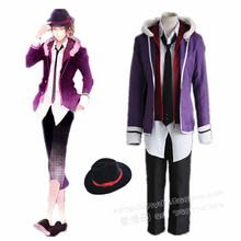 Sakamaki Laito cosplay costumes Japanese anime Diabolik Lovers clothing(Blazer+short pants+tie+hat+shirt+Hooded jacket)