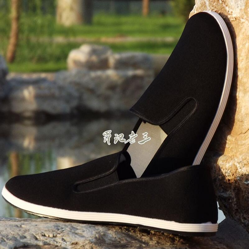 Comfortable Martial Arts Shoes Breathable Wushu Tai Chi Black Cloth Shoes Kung Fu Men Women Eur Size 39-45 For Driving Shoes