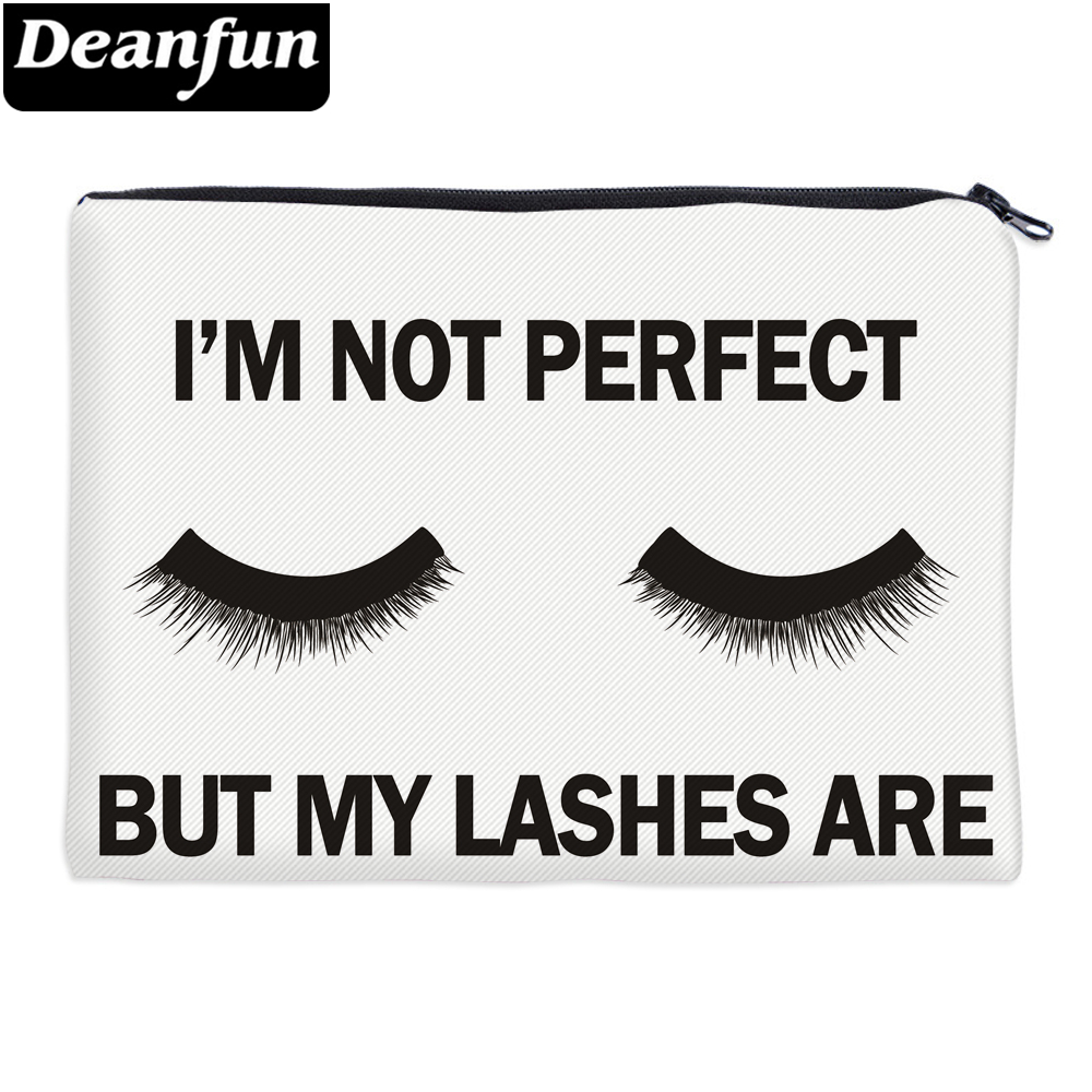 Deanfun Cosmetic Bags 3D Printed Eyelash With Letter Necessaries For Women Travelling  85029