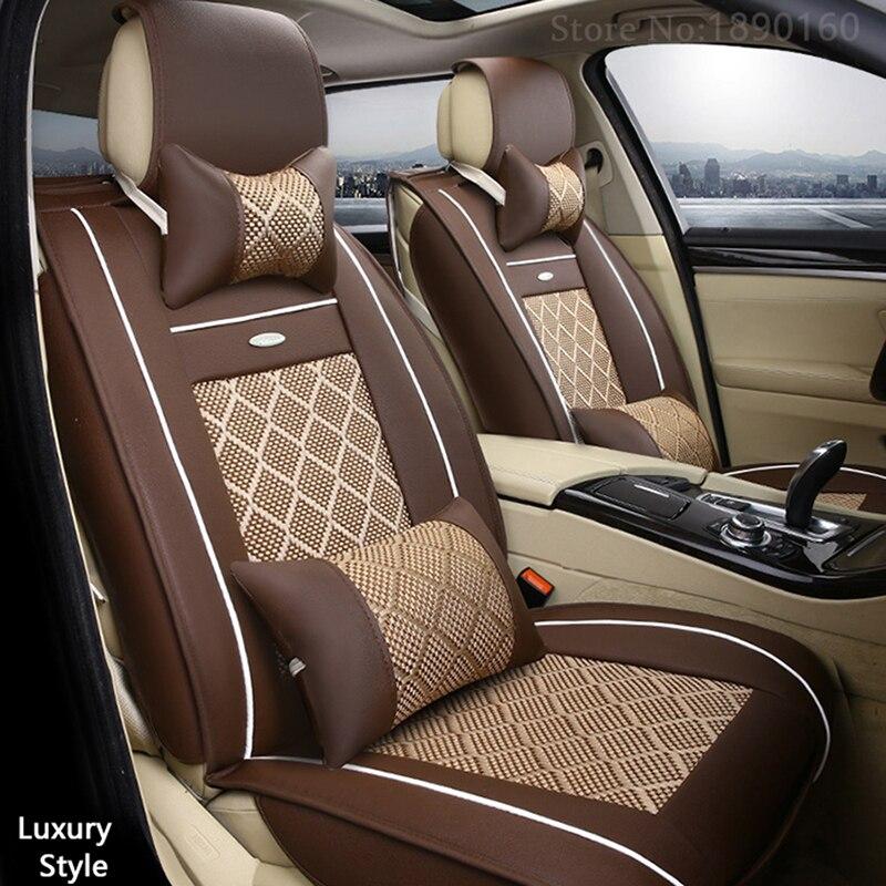 Дышащие кожаные чехлы для автомобильных сидений для DACIA sandero Duster Logan автомобильные аксессуары для стайлинга автомобилей автомобильные поду