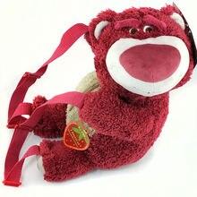 Оригинальный милый лотсо клубничный медведь плюшевый рюкзак