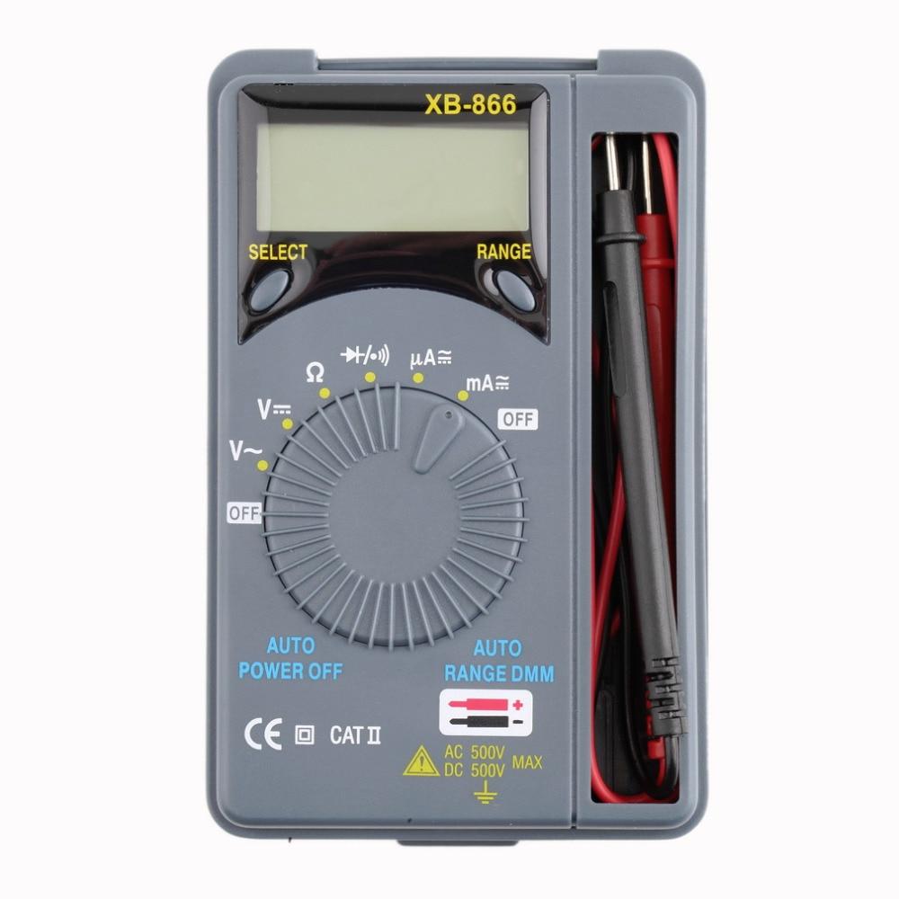 1Pc Wholesale Mini Auto Range LCD Voltmeter Tester Tool AC/DC Pocket Digital Multimeter