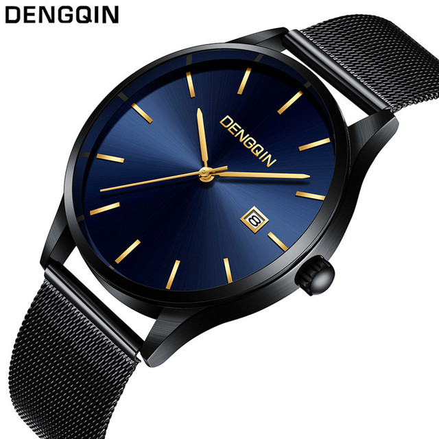 Sanwony Fashion Mens Business Male Watch Classic Quartz Stainless Steel Date Wrist Watch mens watches top brand luxury Wholesale