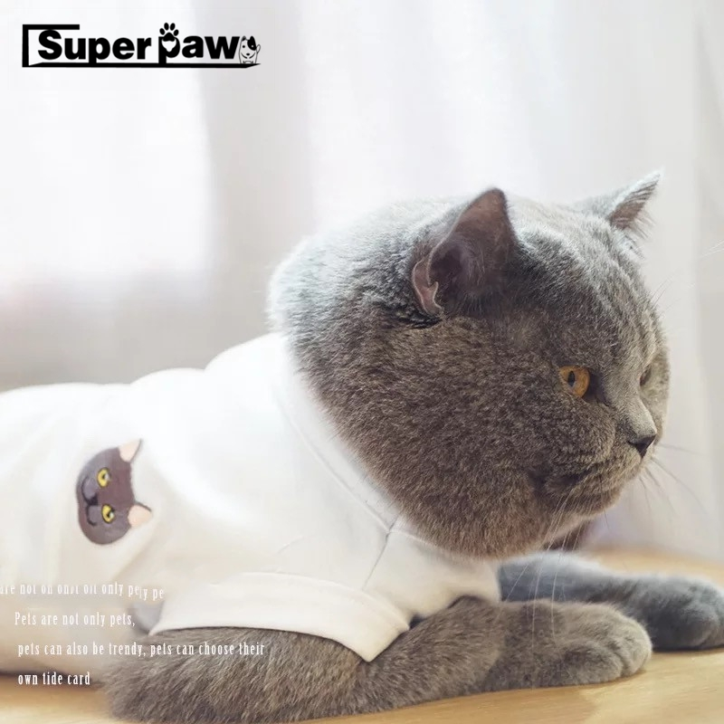 패션 고양이 여름 t-셔츠 프랑스 불독 조끼 애완 동물 고양이 옷 개 애완 동물 고양이 의류 고양이 개 의류 퍼그 의상 gzc03
