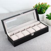 New 6 Grid Luxury Refinement Slots Watches Gift Case Jewelry Display Boxes Storage Holder Top Quality