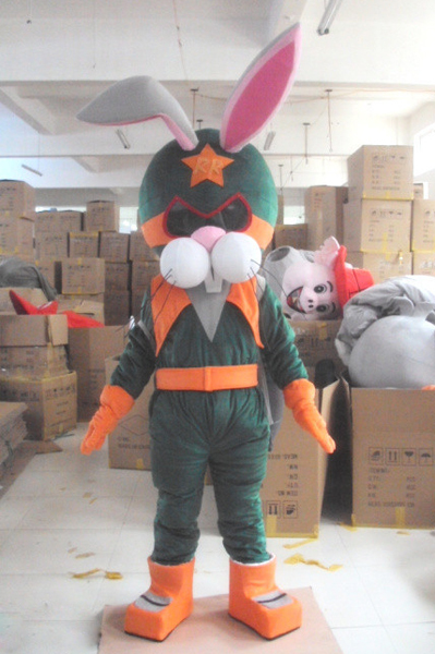Rabbit Astronauts Space Mascot Costume For Adults Christmas Halloween Outfit Fancy Dress Suit Free Shipping