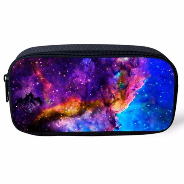 8c7dbd74cf8 Universo de la Galaxia del Espacio Estrella Casos Cosméticos para Niñas  Caja de Lápiz Bolsas Lápiz