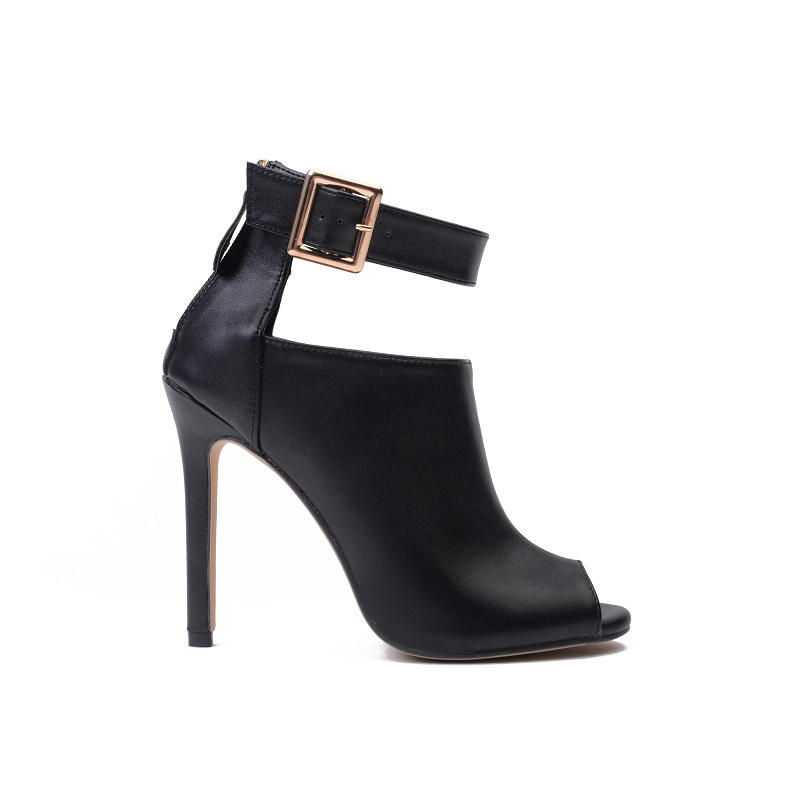 DEleventh-New-Design-Women-Chelsea-Boots-Black-Peep-Toe-Thin-High-Heels-Shoes-Spring-Autumn-Woman