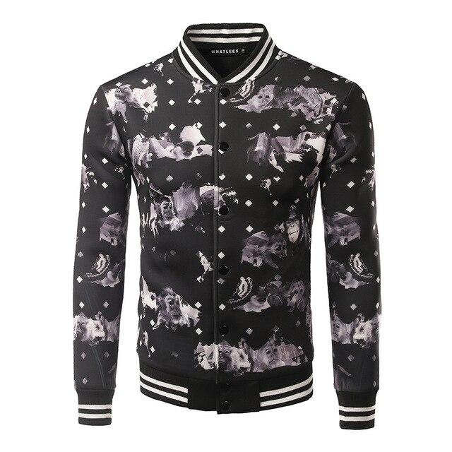 2017 New Style Autumn 3D Print Mens Jacket Men Personality Apparel Zipper Sweatshirt Halloween Costume Tops Coat