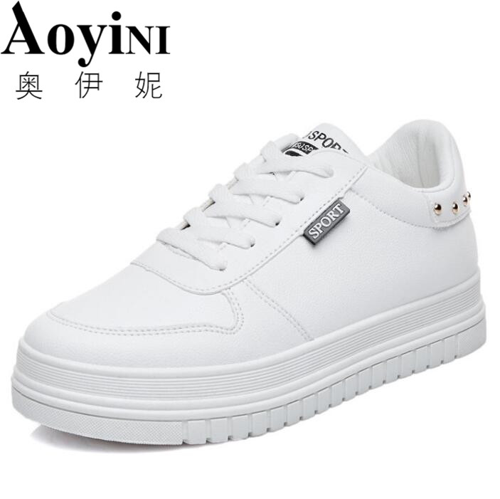 Women White Shoes 2018 Spring New Female Casual Shoes Fashion Sneakers Zapatillas Deportivas Mujer Black Red 35-40