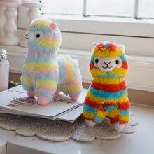 35 /50 Cm Soft Rainbow Alpacasso Alpaca Plus Toy Stuffed Japanese Alpacasso Alpaca Soft Plush Baby Toy Plush Animals Alpaca недорого
