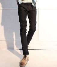 Черные джинсы тощий мужские 2016 новое поступление тонкой корейской мода мужчины джинсовые брюки бесплатная доставка