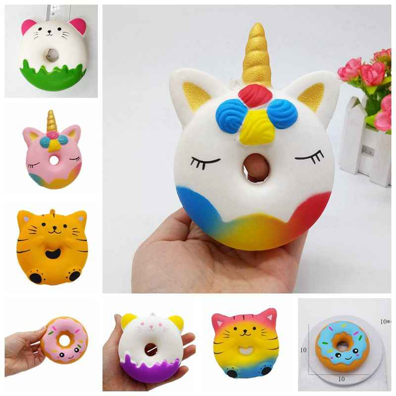 Unicorn Squishy Slow Rising Antistress PU Simulation Cat Donut Squishi Anti-stress Jokes Novelty Toys For Children Birthday Gift