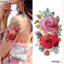 9X19CM Sexy Simulation Flower Tattoo Stickers Waterproof Peony The Plum Flower Tattoos