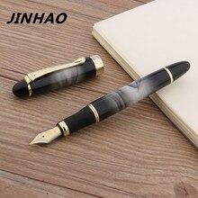 1 шт. JINHAO X450 Металлическая Офисная Золотая Подарочная иридиевая 0,5 мм Классическая Подарочная авторучка