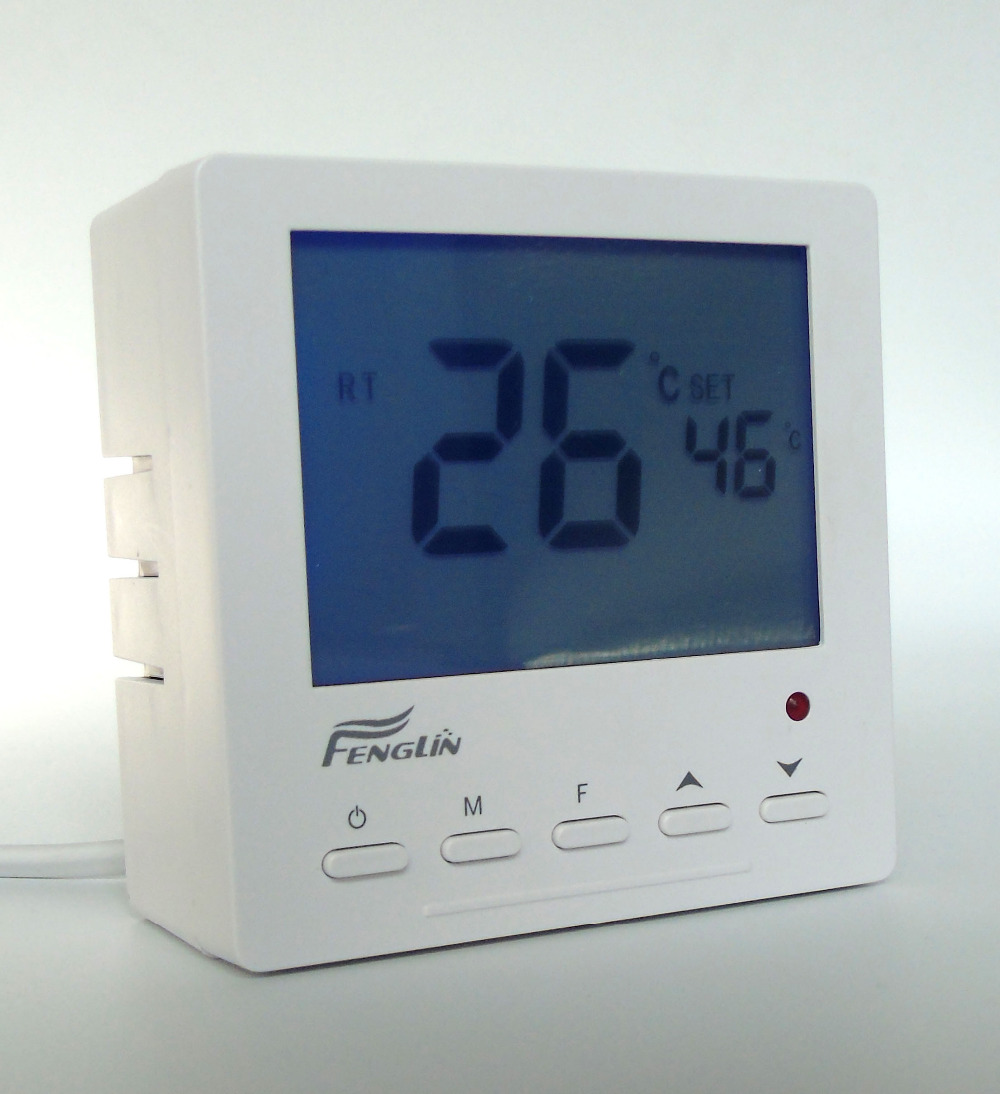 25A 5KW  External installation digital floor heating thermostat for heater 5% 25