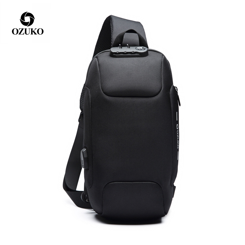 Multifunction Crossbody Bags Men USB Charging Chest Pack Short Trip Messengers Chest Bag Water Repellent Shoulder Bag MaleMultifunction Crossbody Bags Men USB Charging Chest Pack Short Trip Messengers Chest Bag Water Repellent Shoulder Bag Male