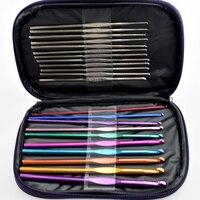 1 компл.. Алюминиевые вязаный крючком ния спиц многоцветные плетение ремесло инструмент для прядения DIY Инструменты