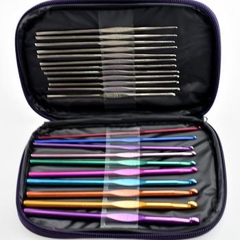 1 セットアルミかぎ針フック針マルチカラー織りクラフト糸ツール DIY ツール