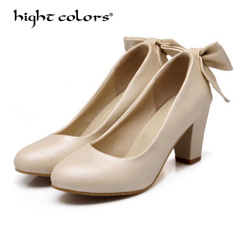 Size 34-43 women pumps 2018 new fashion sexy prom party shoes classic white black pink light Blue OL office career high heels