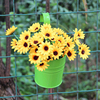 6 Pcs Metal Iron Hanging Planters Bright Colors Artificia Flower Plant Pots Holders For Wall Vase