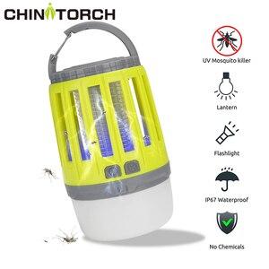 Image 1 - LED خيمة مصباح 2 in 1 علة Zapper مصباح USB فانوس تخييم يمكن إعادة شحنه المحمولة مقاوم للماء قاتل الماموس الكهربائي القاتل LED فانوس
